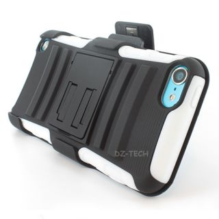 Rugged Hybrid Hard Case Cover Holster Kickstand Apple iPod Touch 5 5G