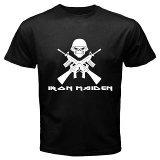 Iron Maiden Black Metal Band Logo Tee T Shirt All Sizes