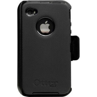 iPhone 4 4S OtterBox Defender Series Case + Belt Clip   Black NEW
