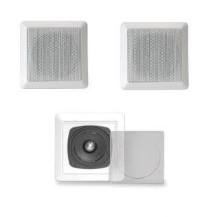 FLUSH MOUNT IN WALL 3 FULL RANGE LCR HOME THEATER SPEAKERS HOME AUDIO