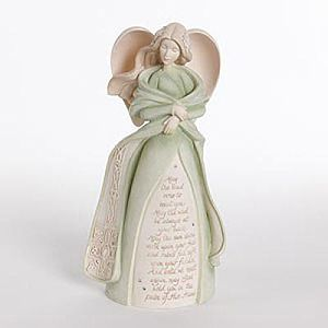 Enesco Irish Celtic Blessing Angel Figurine Designed by Karen Hahn