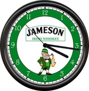 Jameson Irish Whiskey Leprechaun Tavern Bar Lounge Pub Green Sign Wall