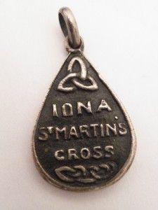 RARE Alexander Ritchie Iona Silver St Martins Cross Pendant