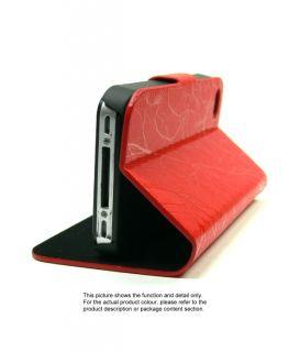 Leather Skin Tri Fold Stand Flip Cover Case iPhone 4 U574H