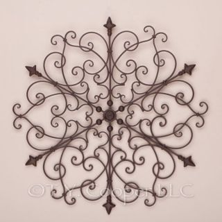 Wrought Iron Metal Round Wall Decor Grill Grille 91558