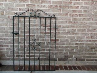 1950s Vintage Wrought Iron Gate