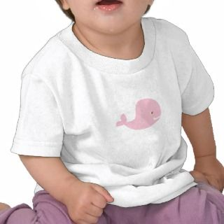 Baby Pink Whale Cartoon Tee Shirts