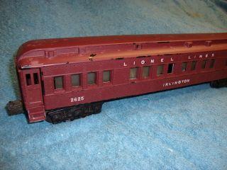 Lionel Postwar 2625 Irvington Passenger Car 1