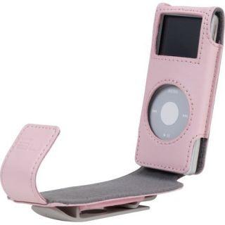 iPod Nano 1g 2G 1st 2nd Gen Belkin Pink Leather Case