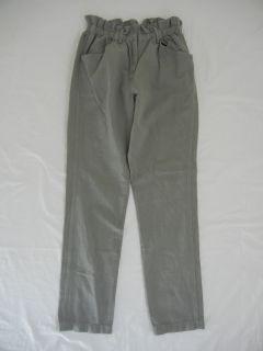 Isabel Marant Etoile Olive Khaki Cotton Linen Loose Slouchy Pants