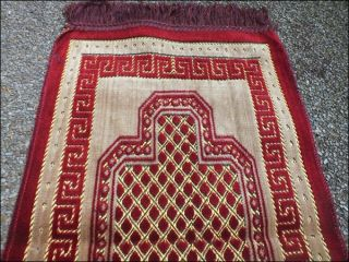 PR01 Turkey Islamic Prayer Rug Carpet Red Small Size Salat Namaz