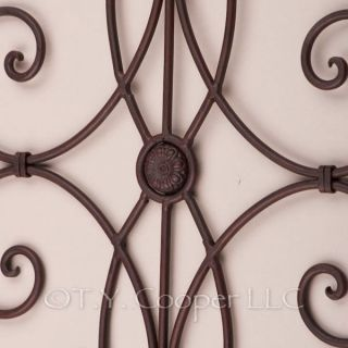 Wrought Iron Metal Wall Decor Grill Grille 91679 Sale
