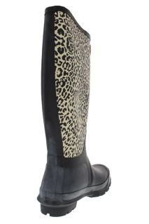 Guess Iselin Black Animal Print Rain Boots Shoes 10 BHFO