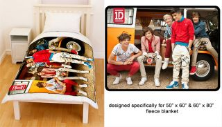 One Direction 1D Siggy Signature Up All Night Fleece Blanket