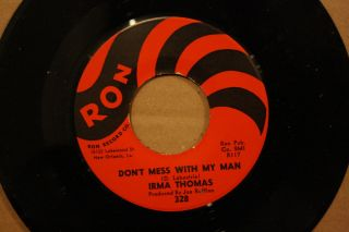 Irma Thomas DonT Mess with My Man Set Me Free New Orleans Soul 45 on