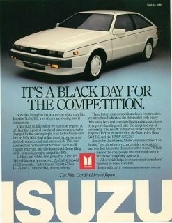 1987 Isuzu Impulse Turbo RS Single Sheet Brochure
