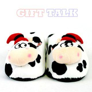 Cute Cow Indoor Slippers Plush Antislip