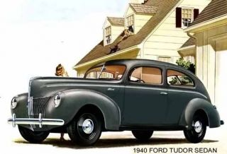 1940 Ford Tudor Sedan Gray Magnet