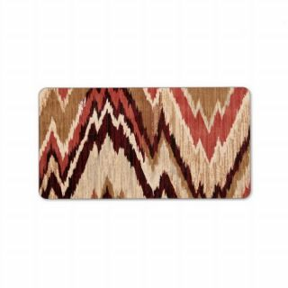 Hipster Girly Brown Red Colorful Zig Zag Pattern Personalized Address