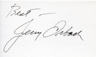 Jerry Orbach of Law Order Autograph