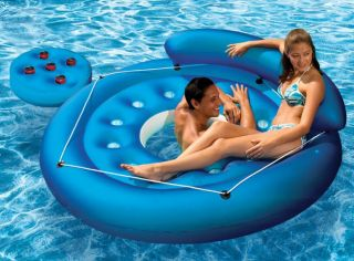 Inflatable Swimming Pool Mat River Floating Island Raft
