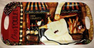 Jennifer Garant Fat Chef Italian Bistro Wine Decor Serving Platter New