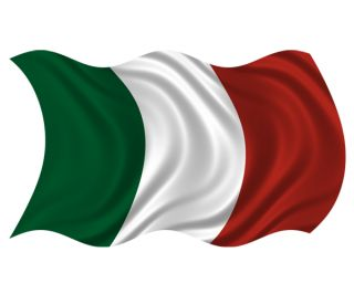 Italy Waving Flag Italian Italia Wall Art Car Vinyl Bumper Sticker