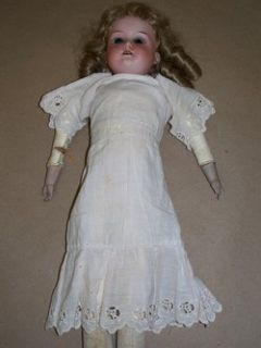 Armand Marseille Leather Body Doll Jointed Victorian Blue Eyes 370 A M