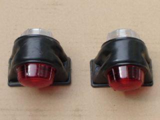 Rubber Outline Side Marker Light Trailer Red White 12V