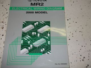 2005 Toyota MR2 MR 2 ELECTRICAL WIRING Diagram Service Shop Repair