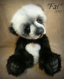Realistic Baby Panda Bear OOAK by Teddy Bear Artist Jenea Ivey