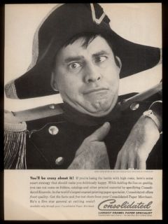 1961 Jerry Lewis as Napoleon Bonaparte Photo Consolidated Print Ad