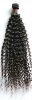 Brazilian Machine Sewn Virgin Human Hair Weft, Remy Weave   Jerry Curl