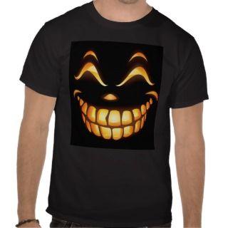 Halloween Pumpkin Face T Shirts t shirts by HalloweenGiftFun