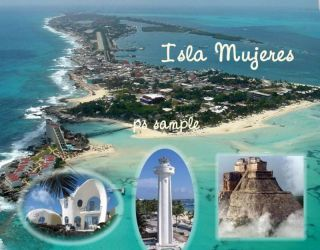 Mexico Isla Mujeres Travel Souvenir Fridge Magnet