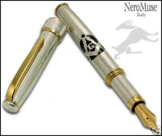 Masonic Collection Precious Silver Pen Great Gift Truly Italian