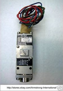 ITT Neo Dyn 132P52C6 Adjustable Pressure Switch