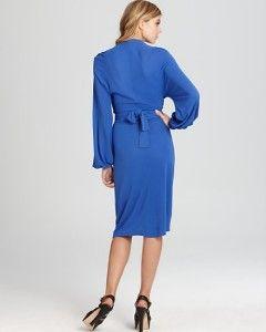 Issa London Pacific Blue Jersey Dress $395 US 10 UK 14