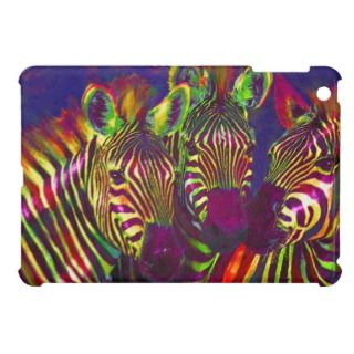 three rainbow zebras ipad mini case for the iPad mini
