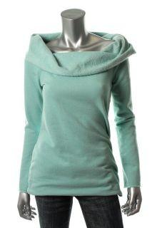 Famous Catalog Green Fleece Long Sleeve Boatneck Tunic Top Shirt s