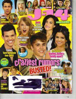 Selena Gomez Justin Bieber J 14 Magazine 8 11 Demi Lovato Taylor Swift