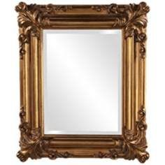 howard elliott edwin 23 high antique gold wall mirror