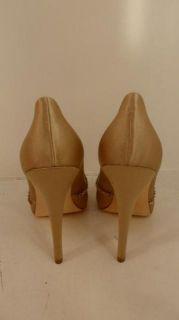 Ivanka Trump Womens Chelsee Sandal Med Natural Satin 9M $180 Value