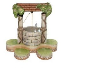 Jim Shore Wishing Well Display Base Snow White New Box