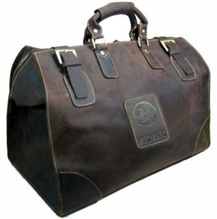 Style Full Grian Vintage Leather Luggage Travel Duffle Gym Bags Tote