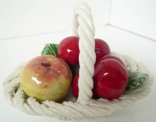 Lanzarin Ceramiche Fruit Basket Italy Art Pottery