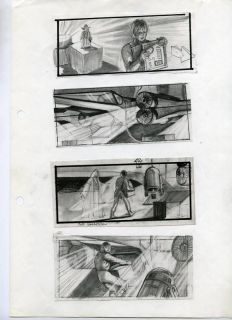 Ivor Beddoes Storyboard Star Wars Empire Strikes Back