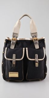 Marc by Marc Jacobs Metallic Military Utilitote