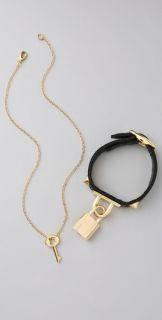 CC SKYE Lock Bracelet with Key Necklace Set