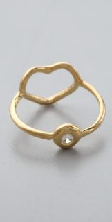 Jacquie Aiche Heart & Crystal Ring